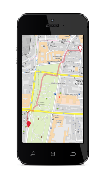 Mobile phone:Pedestrian route for pedestrians without limitation