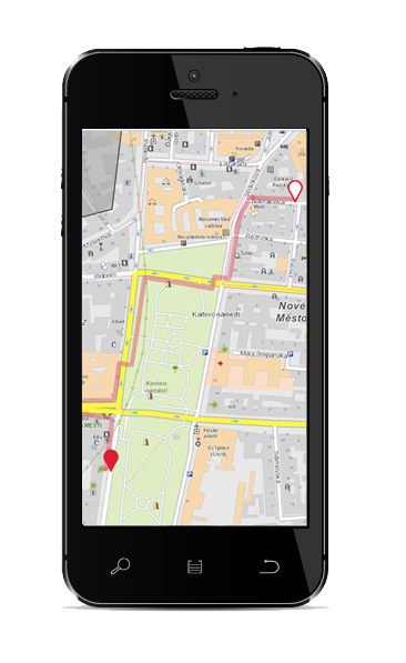 Mobile phone:Pedestrian route for blind